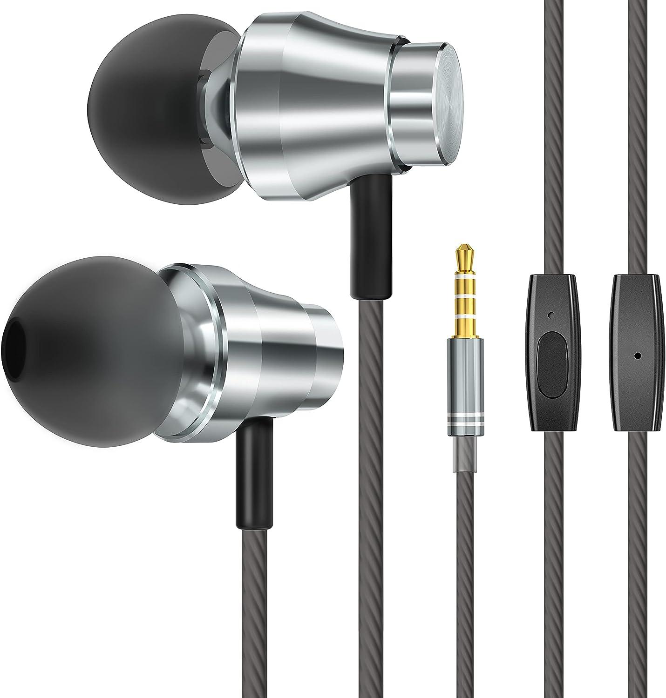 Auriculares,Auriculares con Cable y Micrófono para Galaxy, Huawei, XiaoMi, PC, MP3/MP4 Android y Todos los Dispositivos de Auriculares de 3,5 mm