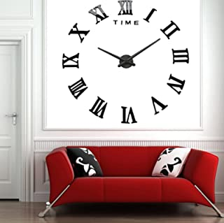 Modern Design DIY 3D Big Wall Clock Home Decor Quartz Horloge Wall Watch Stickers Reloj De