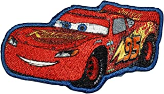 Disney Cars Lightning McQueen Patch Race Movie Embroidered Iron On Applique