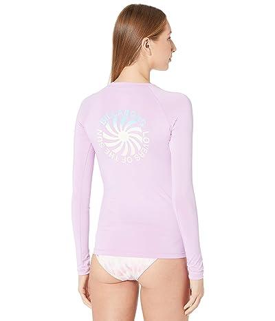 Billabong Surfadelic Long Sleeve Rashguard (Lit Up Lilac) Women