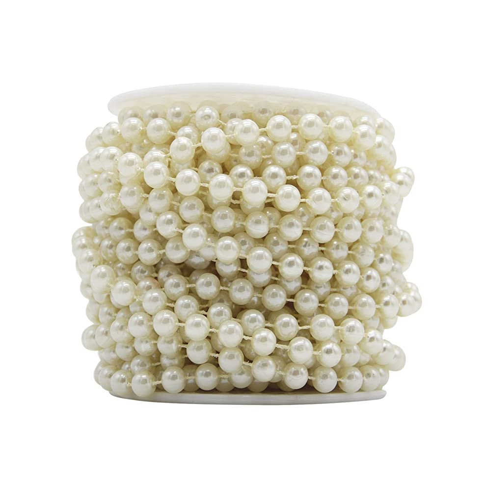 blissun Pearl String Beads,Roll Beads 10mm Ivory (Ivory)