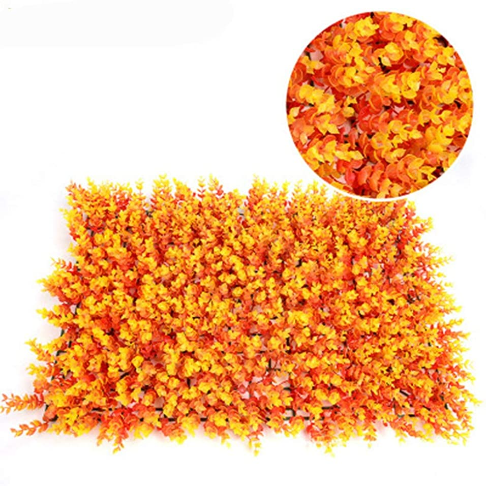 ギター彫刻みぞれ10ピース人工トピアリーヘッジ植物プライバシーフェンススクリーン、20 '×20'屋内屋外フェイクグラス装飾用フェンス背景 (Color : Orange, Size : 12pack)