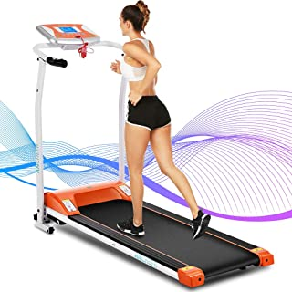 ANCHEER Treadmill for Home Use,Folding Electric Treadmill with LCD Monitor Motorized,Pulse Grip and Safety Key,Compact Treadmill Exercise Machine for Small Spaces,US Stock