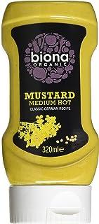 Biona Organic Mustard Medium Hot, 320 g