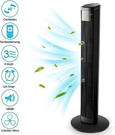 1PC Comfort Control-Aufsatz-Ventilator Slim Design Mini Oszillierende Turm Fan Quiet Personal Desktop Bladeless L/üfter f/ür Innen Office Home Desk Verwenden Black
