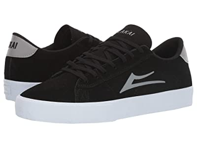 Lakai Newport (Black/Light Grey Suede) Men