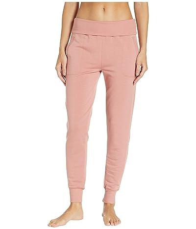 Beyond Yoga Fleece Fold-Over Sweatpants (Pink Lei) Women