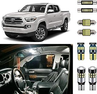 AUTOGINE Super Bright 6000K White LED Interior Light Kit Package for 2016 2017 2018 2019 2020 Toyota Tacoma + Install Tool