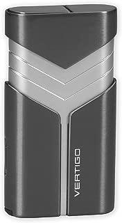 Vertigo Vertigo Tron Double Torch Lighter w/Cigar Punch (Gunmetal)