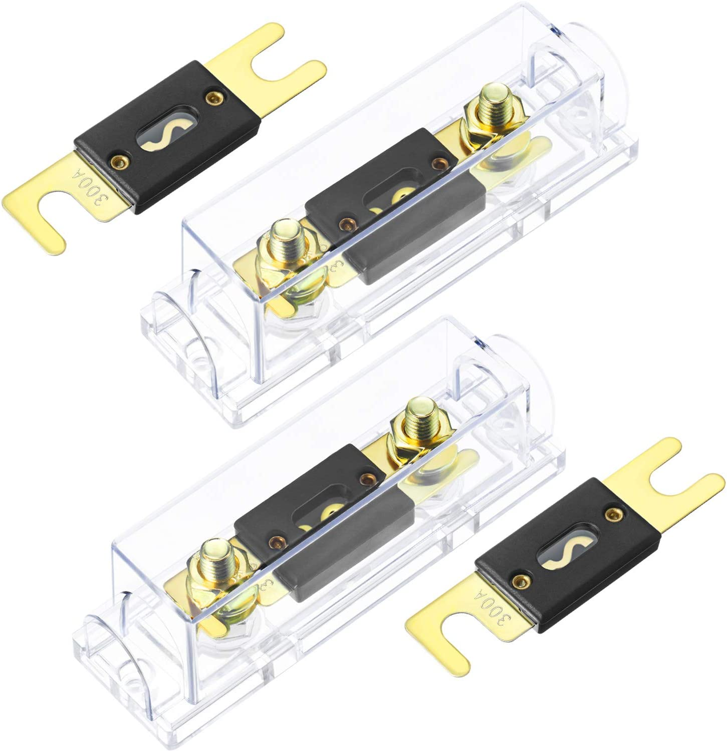 25% OFF 2 Pieces Car Audio Video ANL Fuse Holder Sets and Spare Excellent