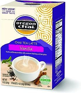 Oregon Chai Original Chai Tea Latte Powdered Mix, Vanilla, 8 Count Envelopes per Box, 1.1 oz each (31g) (Pack of 6)