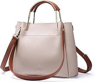 FFO Women Handbag PU Leather Detachable Shoulder Long Strap Ladies Shoulder Bags