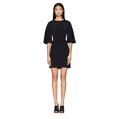 Adam Lippes Silk Crepe Sculpted Mini Dress (Black) Women