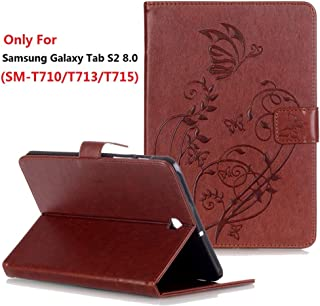 Samsung Galaxy Tab S2 8.0 (SM-T710 / T713 / T715) Case, YMH Magnetic Flip Folio Cute Auto Sleep/Wake Multi Angle Stand Pocket Wallet Case Cover PU Leather Case for Samsung Galaxy Tab S2 8.0 (02)