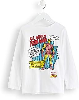 Marca Amazon - RED WAGON Camisa Manga Larga Vengadores Iron Man Marvel Niños