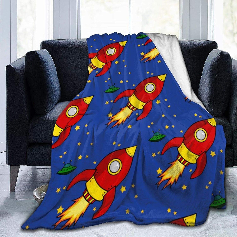 Minneapolis Mall Flannel Fleece Throw Blanket Memphis Mall Rocket Plush Bed Flying Blank Soft