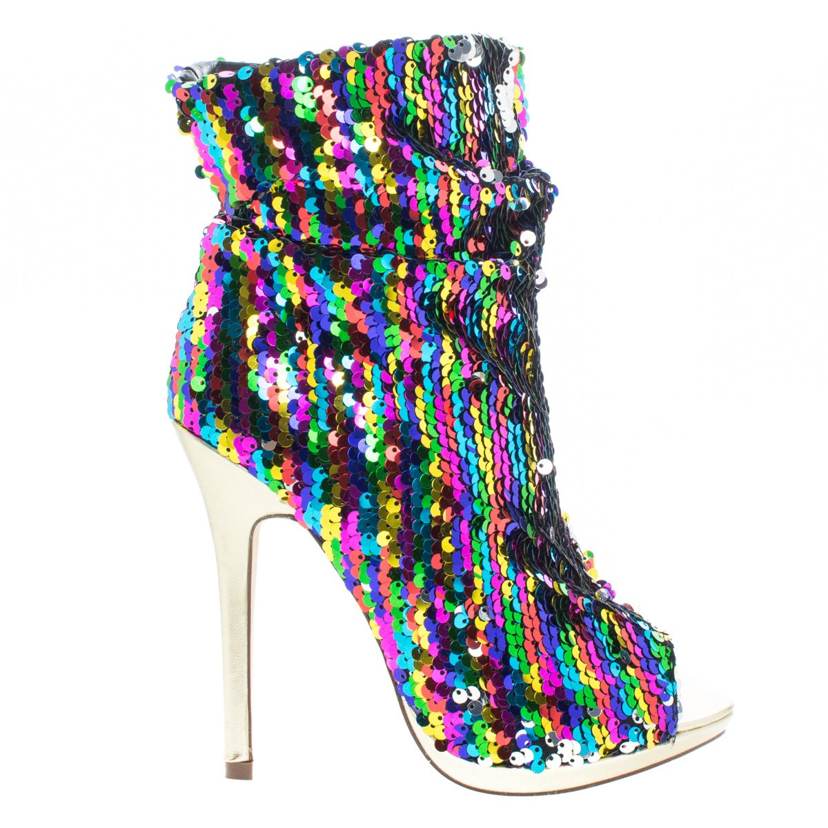 Liliana Maxim 12 Sequins Bootie Rainbow