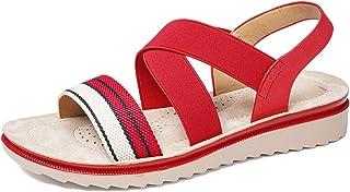 gracosy platta sandaler kors vristband öppen tå skor sommar utomhus strand flip flop string sandaler för kvinnor bekväma a...
