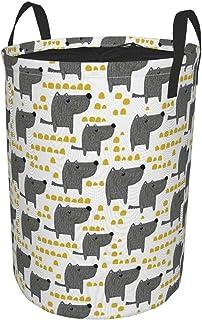 ZOMOY Grand Organiser Paniers pour Vêtements Stockage,Croquis de Style canin avec des Pois Jaunes Abstraits de Dessins ani...