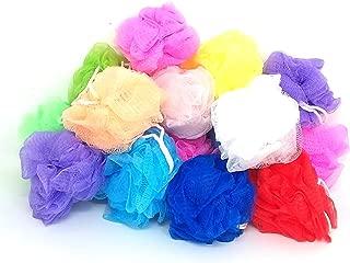 Loofah Lord 20 Small Bath or Shower Sponge Loofahs Pouf Mesh Assorted Colors Wholesale Bulk Lot