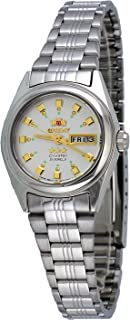Orient FNQ1X003W Women's 3 Star Stainless Steel Silver Dial Day Date Automatic Watch