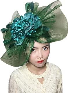 YSJOY Elegant Veil Mesh Feather Fascinator Hat Flower Wedding Party Hat