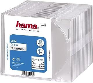 Hama CD Leerhülle Slim, 25er Pack, Transparent