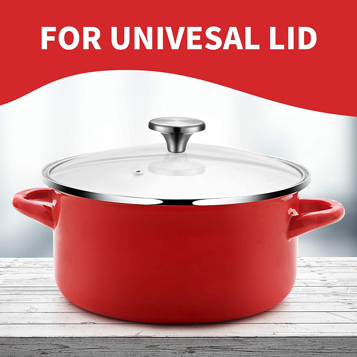 Lodge and other Enameled Cast-Iron Dutch Oven Aldi Silver 4 Sets Dutch Oven Knob Stainless Steel Replacement Knob Pot Lid Handle Compatible with Le Creuset