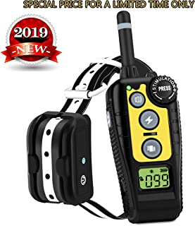 Luckgot Dog Training Collar for 1 Dog,Waterproof and Rechargeable Shock Collar with Security Anti-Shock Remote,Beep,Vibration and Shock Modes for Small,Medium and Large Dogs