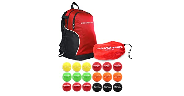 Powernet 3.2 Softball Weighted Progressive Training Balls Bundle with Backpack Enhance Hand-Eye Coordination Build Strength and Muscle Complete Set Heavy Ball 18 Pack 12 to 20 oz