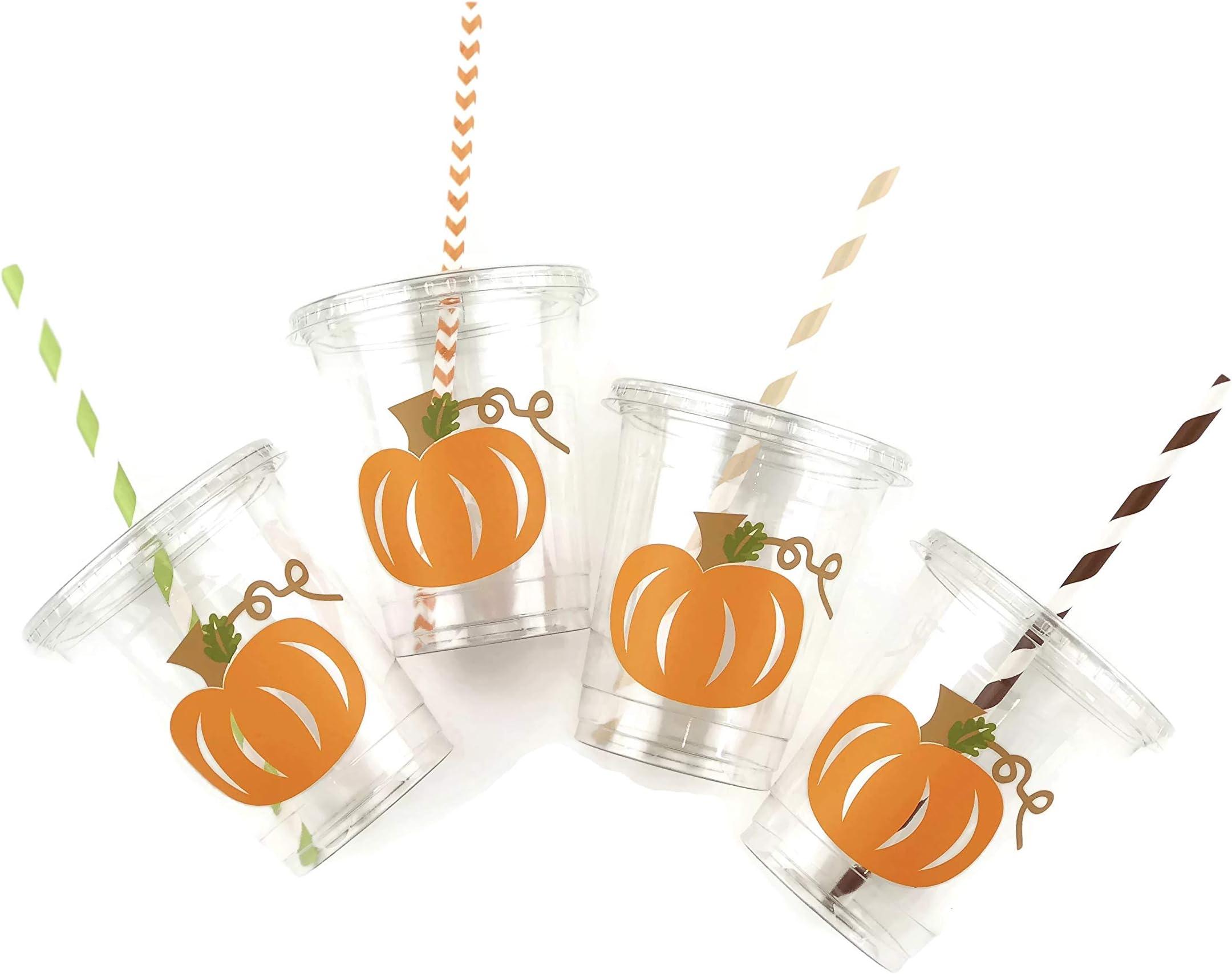 Ivory Gold Pink Pumpkin Cups Fall Party Cups Party Supplies Little Pumpkin Baby Shower Pumpkin Party Fall Baby Shower Pumpkin Patch