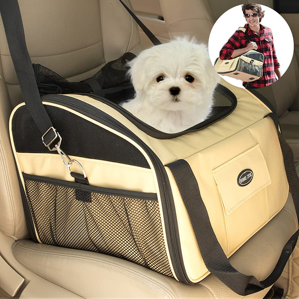 IRME ZOE Pet Dog Car Booster Puppy Carrier Seat Smal Max 77% OFF Albuquerque Mall for Cat