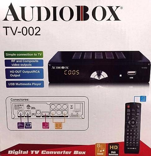 discount Audiobox Digital TV Converter wholesale Box Model: TV-002 HDMI RCA USB lowest Connections outlet online sale
