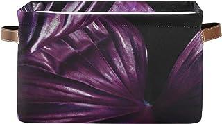 REFFW Boîte de Rangement bacs de Rangement décoratifs pour étagères, paniers de Rangement de Salle de Bain avec poignées e...