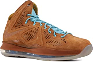 Mens Lebron X EXT QS Hazelnut Suede Basketball Shoes