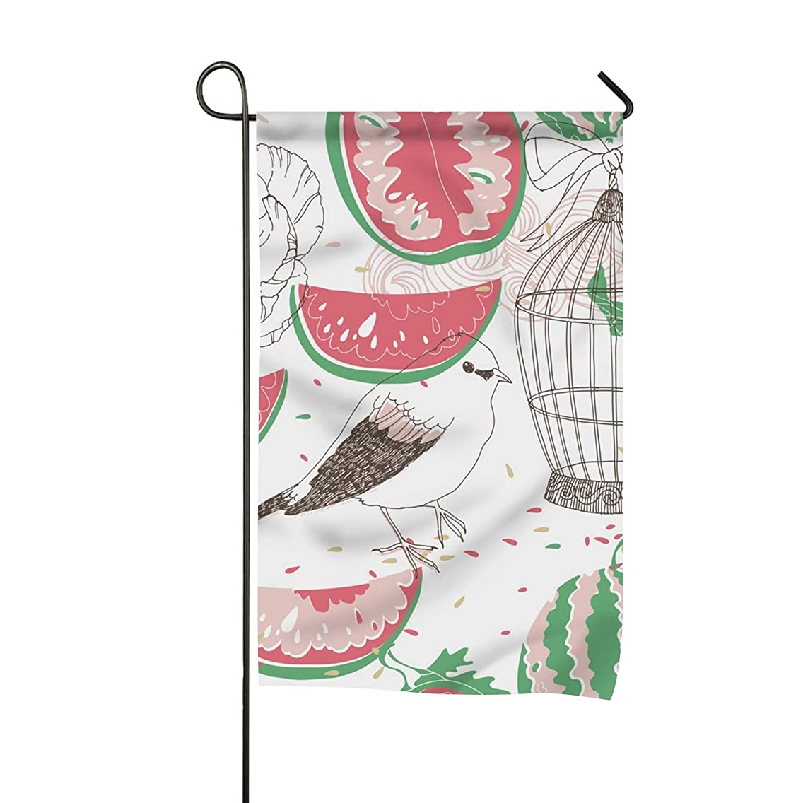 Degrema Pastel Collage Patterns Garden Flag Outdoor Patio Seasonal Holiday