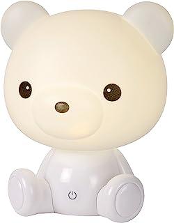 Lucide 71590/03/31 Lampe de Table, ABS, LED intégré, 3 W, Blanc