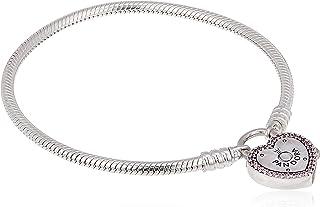 pandora bracciale con charm donna argento - 596586fpc-20