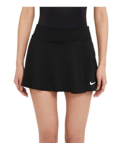 Nike NikeCourt Victory Flouncy Skirt (Black/White) Women