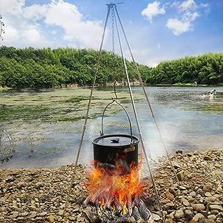 Tubayia Po/êle Ronde en Fonte avec poign/ée pour Pique-Nique//Jardin//Camping 20 cm