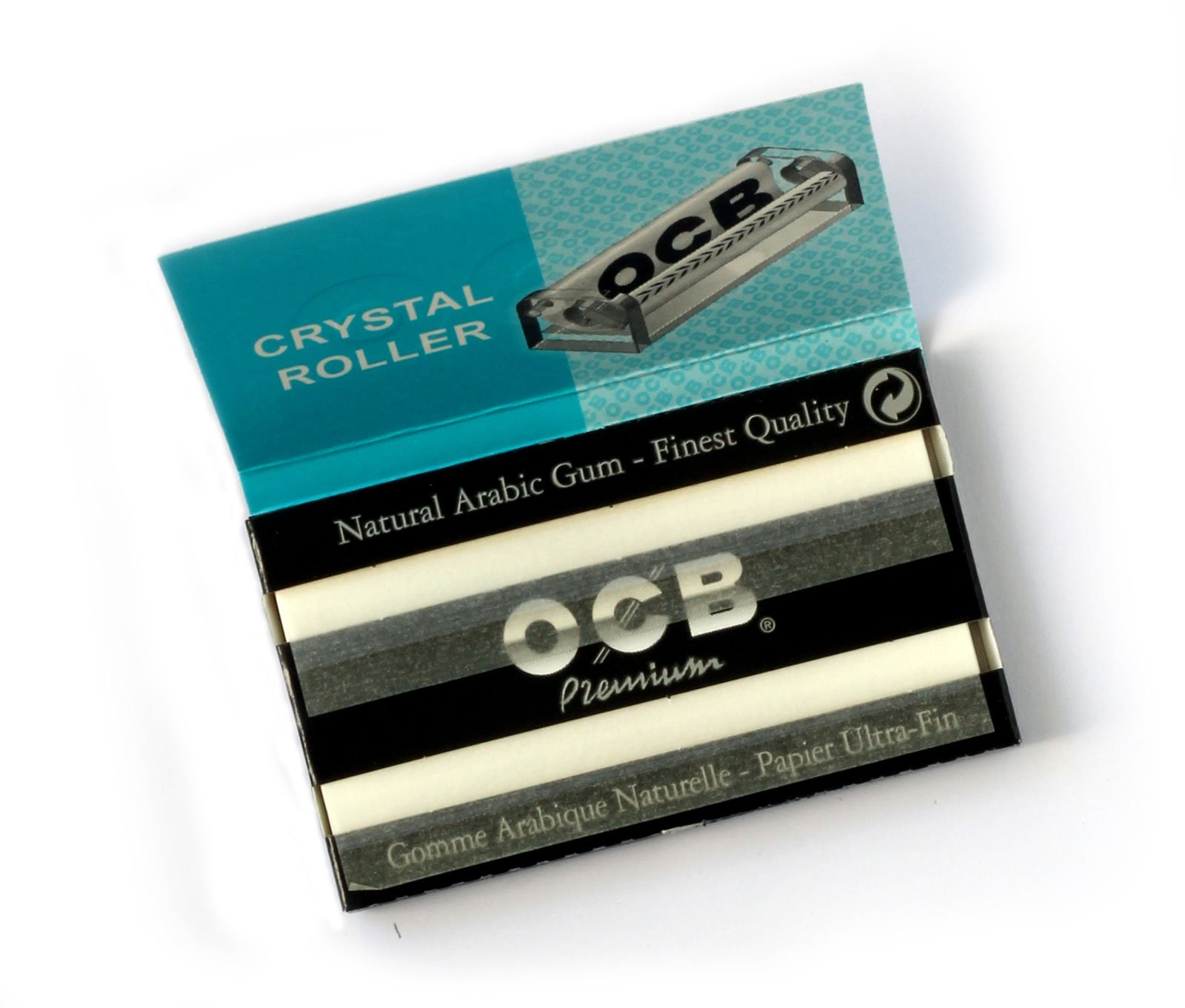 1 Box OCB Premium Black Double Rolling Paper - 2500 Papers