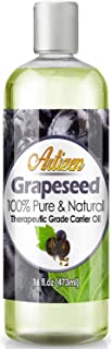 Artizen Grapeseed Oil – 16oz (Ounce) Bottle (100% Pure & Natural) – Perfect Carrier Oil for Diluting Essential Oils – Extracted from Grape Seed – Work Great as a Massage Oil, Aromatherapy, and More!