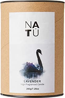 HOUZE LS-9602-LAVENDER NATU Soy Wax Scented Candle 260g, Lavender