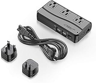 Travel Power Adapter Plug + Voltage Converter, BESTEK 220V to 110V Step-Down Transformer with 6A 4-Port USB Charging and U...