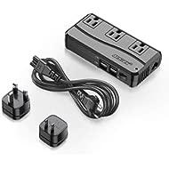 BESTEK Universal Travel Adapter 220V to 110V Voltage Converter with 6A 4-Port USB Charging and...