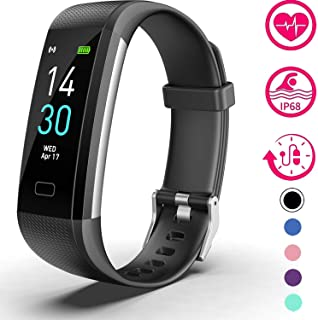 Vabogu Fitness Tracker HR, with Blood Pressure Heart Rate Monitor, Pedometer, Sleep Monitor, Calorie Counter, Vibrating Alarm, Clock IP68 Waterproof for Women Men