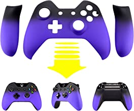 eXtremeRate Soft Touch Front Shell Face Plate with Left Right Panel Handle Side Rails for Xbox One Standard and W/3.5mm Headset Jack Controller (Shadow Purple)