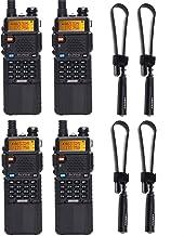 Best 4 Pack BaoFeng UV-5R 8W High Power Tri-Power 1W/4W/8W Portable Dual Band Two Way Radio 3800mAh Battery & 12.99