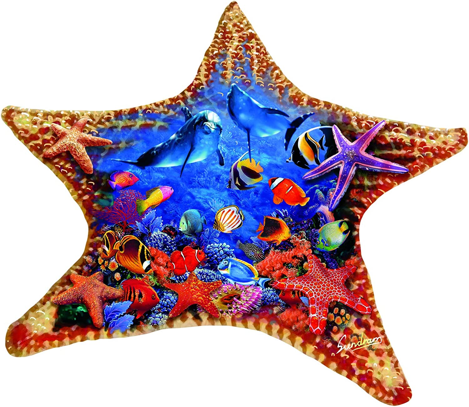 Starfish 600 Piece Shaped Jigsaw Puzzle by SunsOut