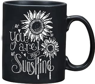 Primitives by Kathy 28884 Chalk Art Stoneware Coffee Mug, 20-Ounce, You Are My Sunshine